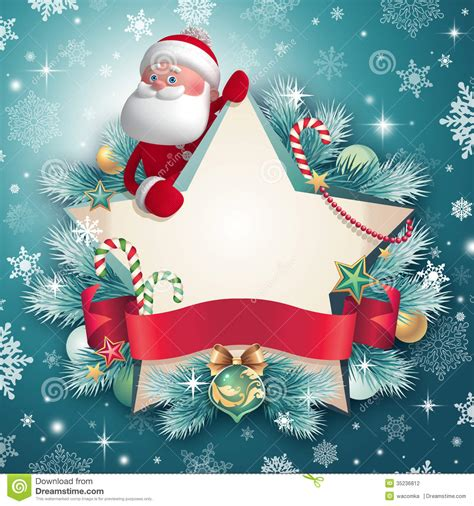 santa place cards templates 3d santa claus character holding card stock