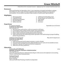 unforgettable food service specialist resume exles to