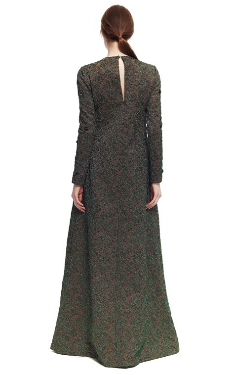 Lomgdress Brocade stretch floral brocade dress by rochas moda operandi
