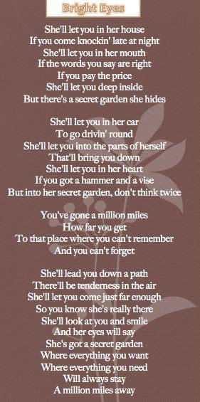 Bruce Springsteen Secret Garden Lyrics by 17 Secret Garden Quotes On Charlottes Web