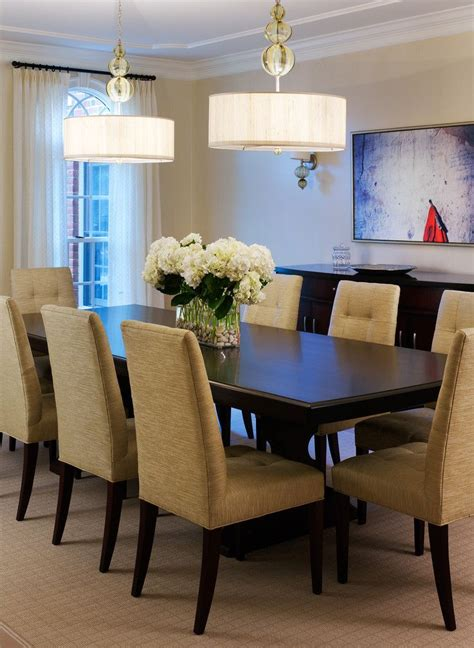 hydrangea centerpieces  kitchen table simple dining