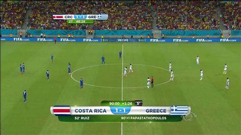 Brasil E Costa Rica Ao Vivo Hdtv Costa Rica 5 1 X 1 3 Gr 233 Cia Copa Do Mundo