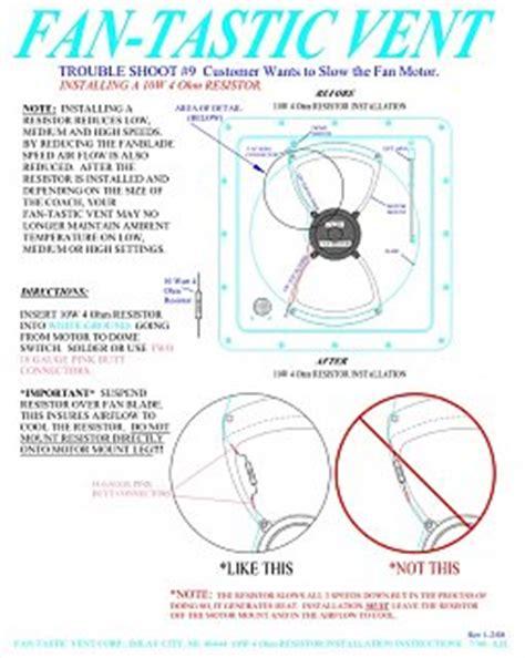 fantastic vent parts diagram fan tastic vent speed noise reduction fiberglass rv