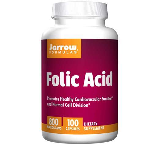 Mcg For Methhet Detox F Folate Supplements by Jarrow Formulas Folic Acid 800 Mcg 100 Capsules Iherb