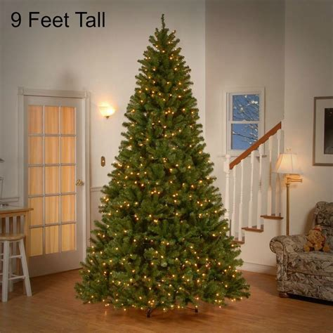 artificial christmas tree with big lights 9 ft tall pre lit christmas tree 700 clear lights holiday