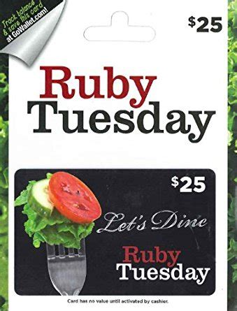 Ruby Tuesday Gift Card Other Restaurants - amazon com ruby tuesday gift card 25 gift cards
