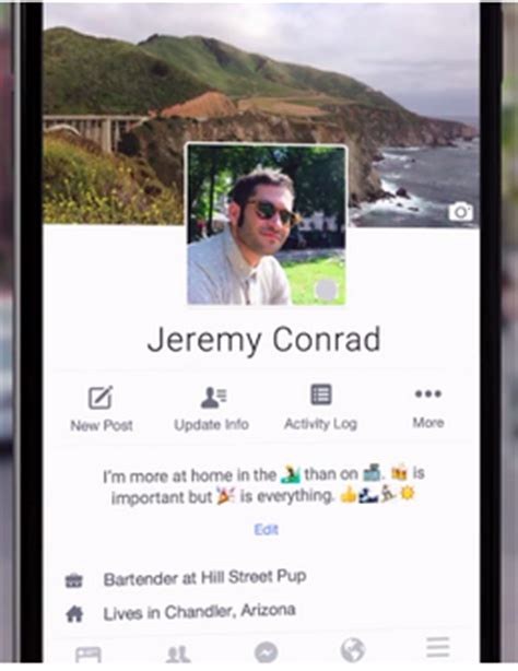 biography in facebook snapchat s video feature introduced in facebook mobile
