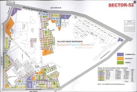 what is a section 52 gurgaon map gurgaon city map map of gurgaon