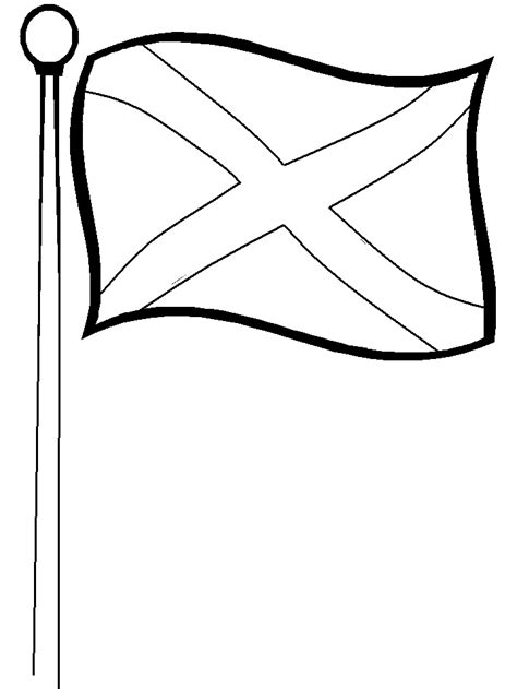 scotland flag colors az coloring pages