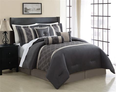 Down Coverlet 7 Piece Queen Renee Embroidered Comforter Set