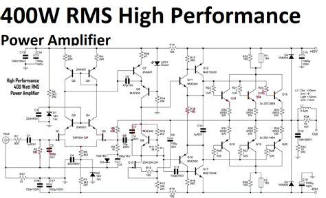 lifier circuit diagram 400w high performance power lifier circuit audio