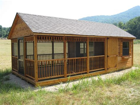 I Sheds by Screened In Patio Cedar Portable Patio Byler Barns