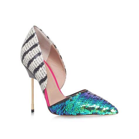bond multi coloured high heel court shoes from kurt geiger