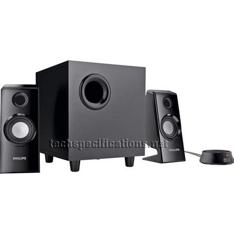 Speaker Komputer Philips philips spa4355 2 1 pc speakers tech specs