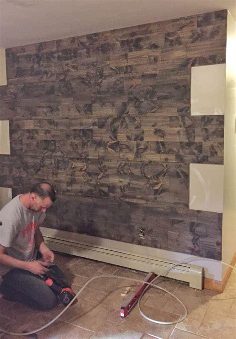 fake  reclaimed wood wall