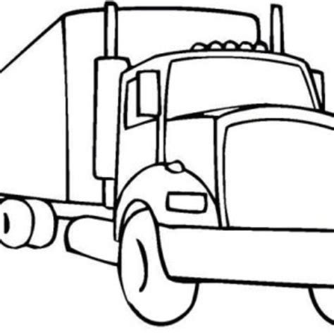 coloring pages 18 wheeler truck
