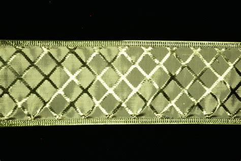 Sale Tila Cornely Motif Metalik 13 2 Lavender 2 5 inch wired gold metallic ribbon