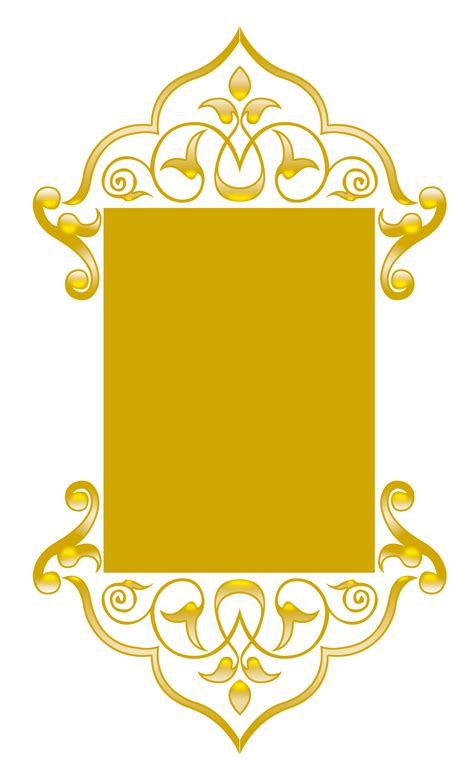 arabic pattern border islamic border clip art 46