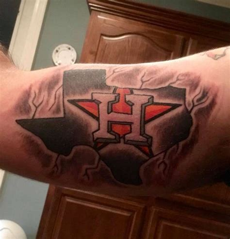 houston astros tattoo houstonians are showing houston astros with these