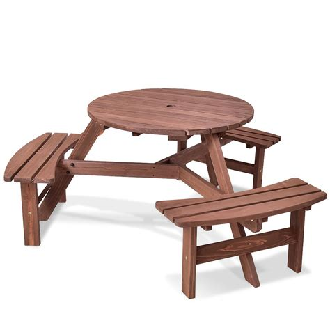 6 person patio table compare bench patio 6 person outdoor wood picnic table