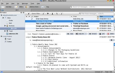 Thunderbird Email Search How To Install Thunderbird On Ubuntu 11 04 11 10 Sudobits Free And Open Source Stuff
