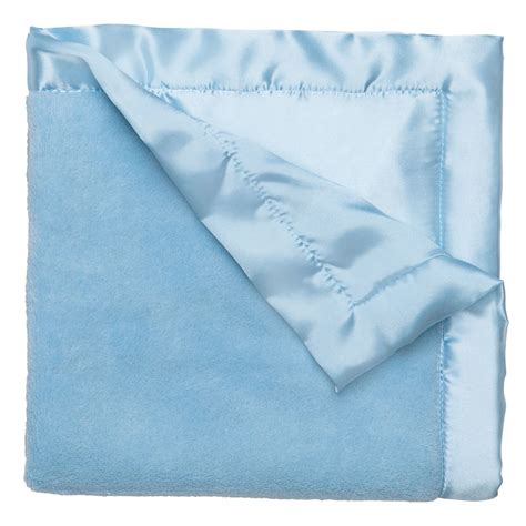 light blue baby blanket personalized microplush small blankie light blue baby