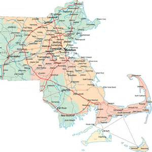 Massachusetts Road Map by Similiar Map Of Eastern Massachusetts Cities And Towns