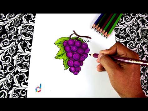 imagenes de uvas faciles de dibujar c 243 mo dibujar un racimo de uvas how to draw a bunch of