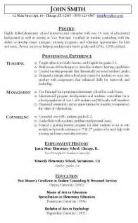 Sle Resume For Applying Ms In Us by Sle Resume Exle Of Teachers Resume Math