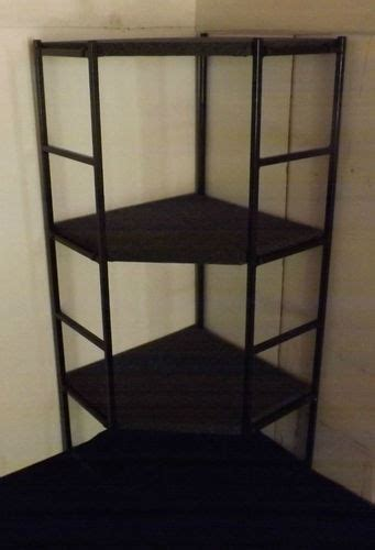 corner display shelf portable with 3 shelves 58 quot tall