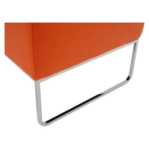 orange ottoman plush orange ottoman el dorado furniture