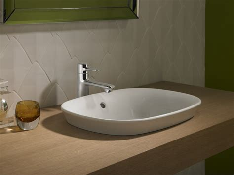 semi recessed bathroom sink maris semi recessed vessel sink