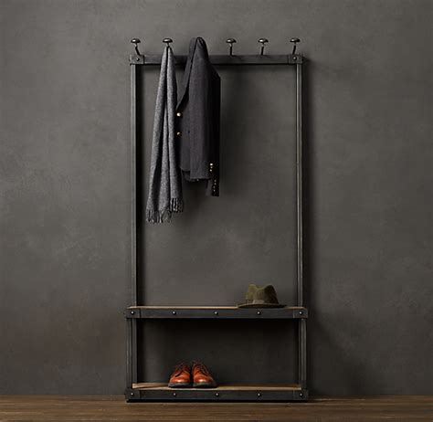 Restoration Hardware Entryway by Coat Rack Bench 3