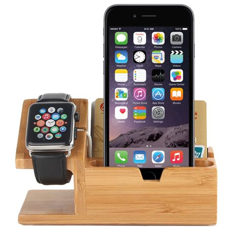 desk stand for iphone bamboo wooden desk stand usb charger apple iphone