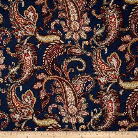 Red Paisley Duvet Duralee Home Lucy Paisley Navy Discount Designer Fabric