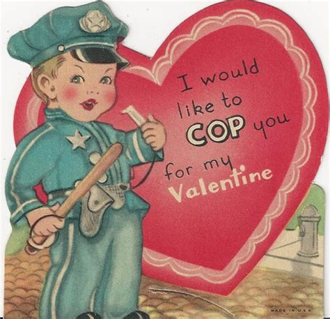 police valentines day images  pinterest