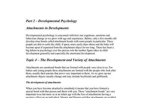 Thesis Statement For Developmental Psychology by Developmental Psychology Thesis Topics 28 Images