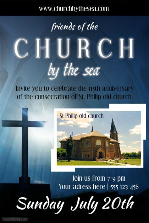 templates for church posters church poster template postermywall
