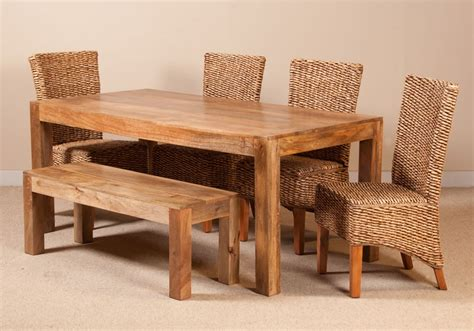 rattan dining bench milano rattan 6 seater light mango dining set with bench