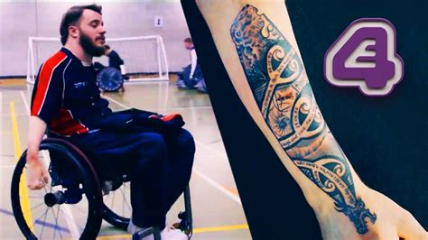 tattoo fixers first girl paraplegic wheelchair rugby player s first tattoo to