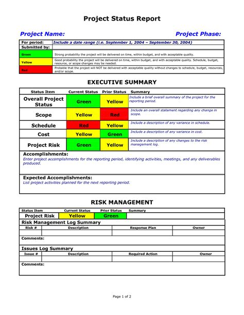 agile status report template 28 images project status