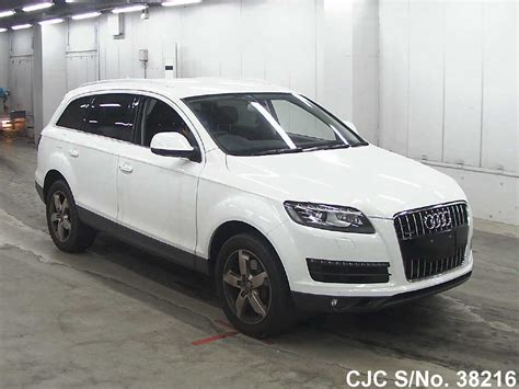 audi q7 2010 for sale 2010 audi q7 white for sale stock no 38216 japanese
