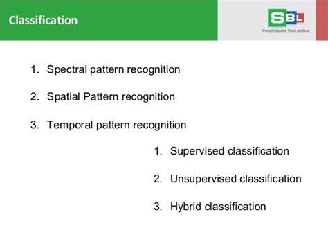 pattern classification errata geospatial image processing services