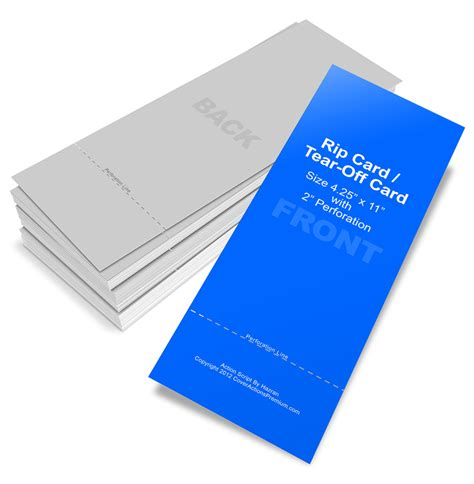 tear business card template rip card tear card mockup cover actions premium