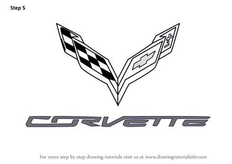 ferrari logo sketch learn how to draw corvette logo brand logos step by step
