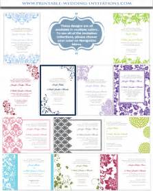 make your own wedding invitations printable diy templates