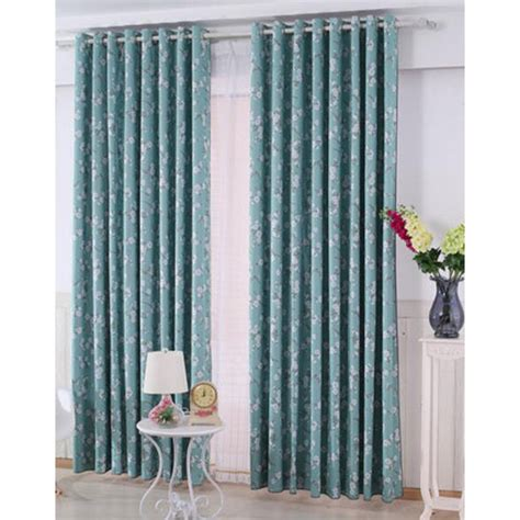 blue floral print curtains blue floral print poly cotton blend country room darkening