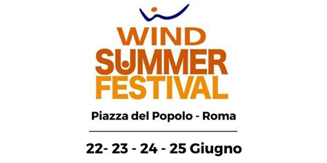 wind summer festival wind summer festival confermata la formula con 4 serate
