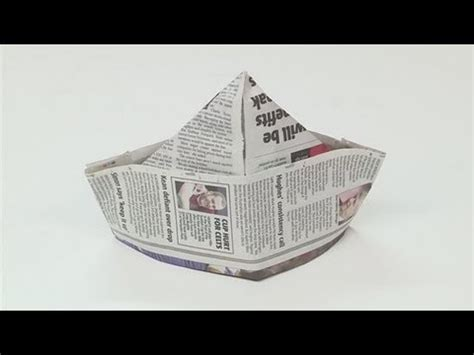 Make A Paper Hat Out Of Newspaper - how to make paper hats
