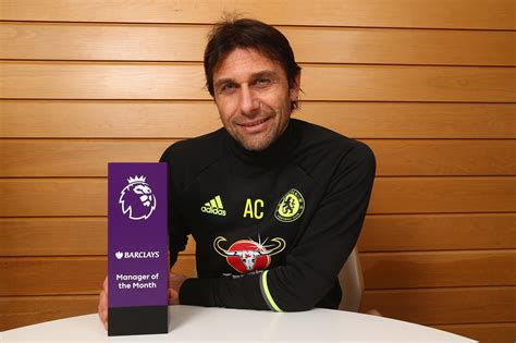 Epl Manager Of The Month | conte makes history as barclays manager of the month